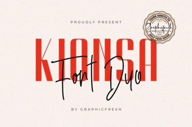 Kionsa – Ultra Condensed Font Duo