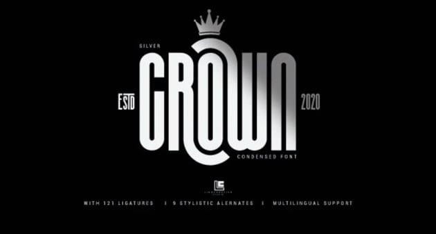 Silver Crown font