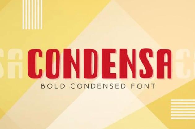 Condensa Condensed Font
