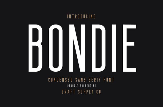 Bondie - Condensed Sans Serif Font