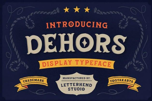 Dehors Display Typeface
