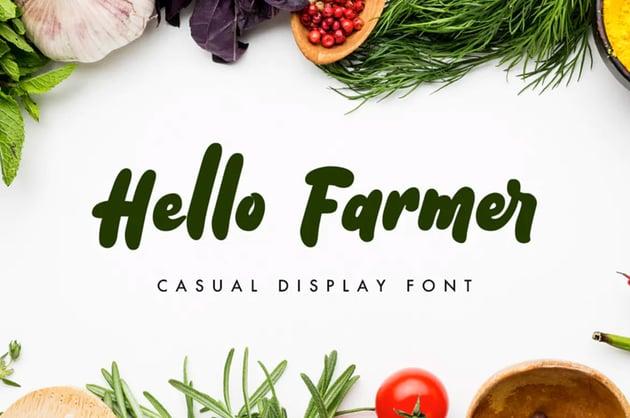Hello Farmer Font