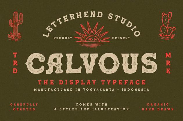 Calvous Slab Serif Typeface