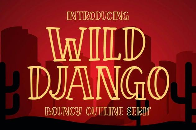 Wild Django Bouncy Outline Serif