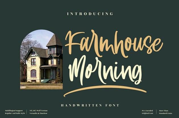 Farmhouse Morning Handwritten