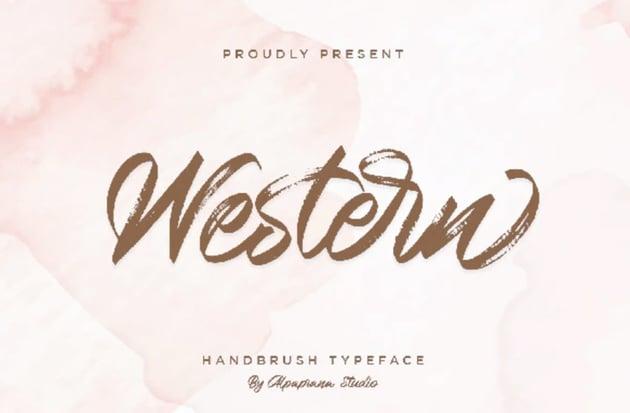 Western Handbrush Script Font