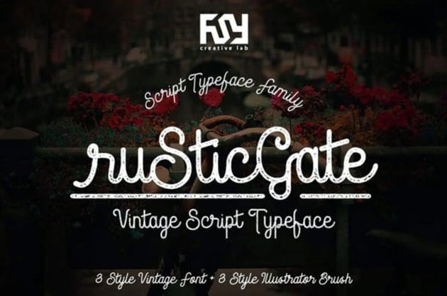 Rustic Gate Vintage Script Font