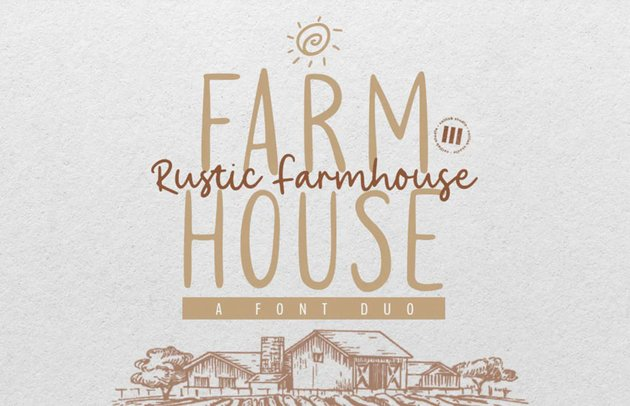 Rustic Farmhouse Aesthetic Font Duo