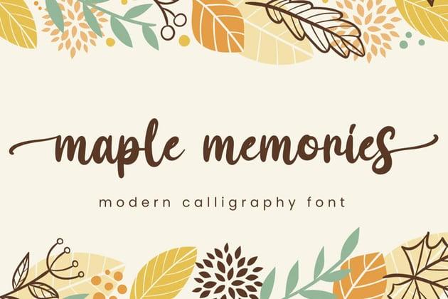 Maple Memories Script Font