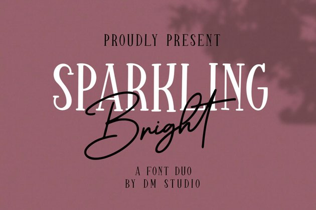 Sparkling Bright Beauty Font Duo