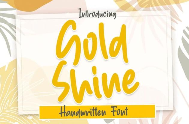 Gold Shine Font