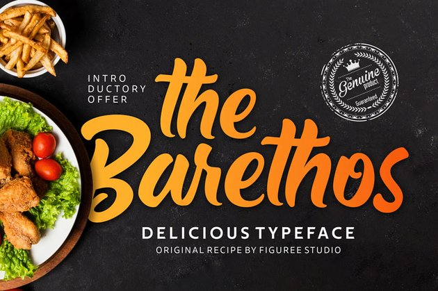 The Barethos Cursive Font