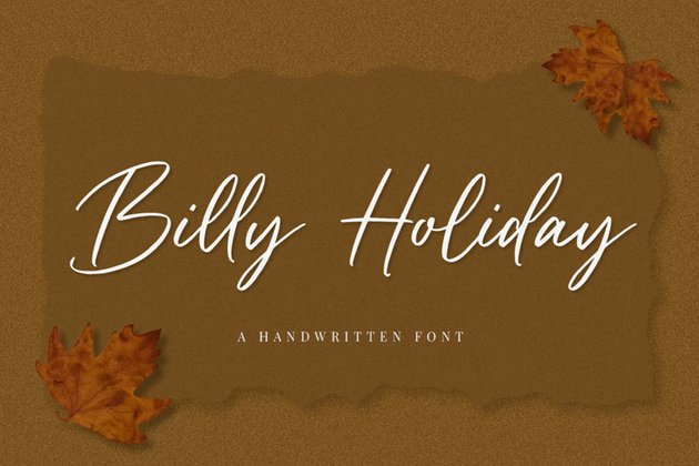 Billy Holiday Script Fall Font