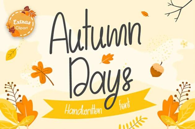Autumn Days Playful Font