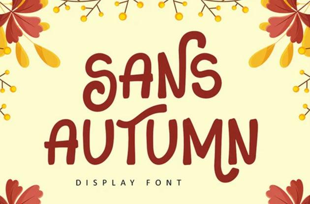 Sans Autumn Display Font
