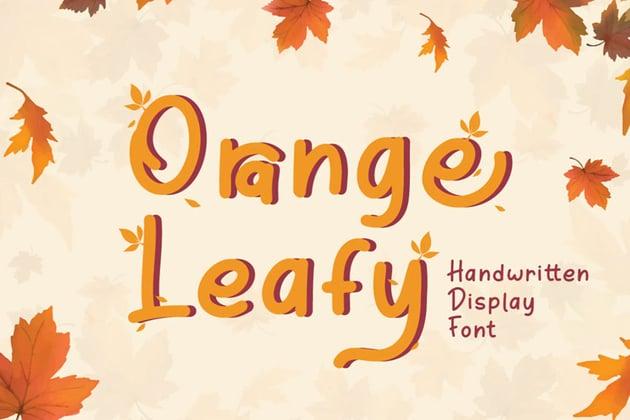 Orange Leafy Autumn Display Font