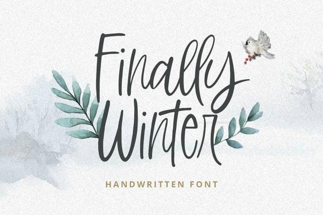 Finally Winter Script Font