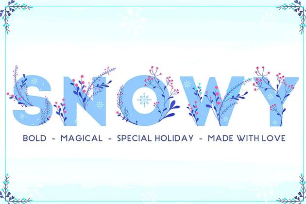 Snowy Magic Winter Font