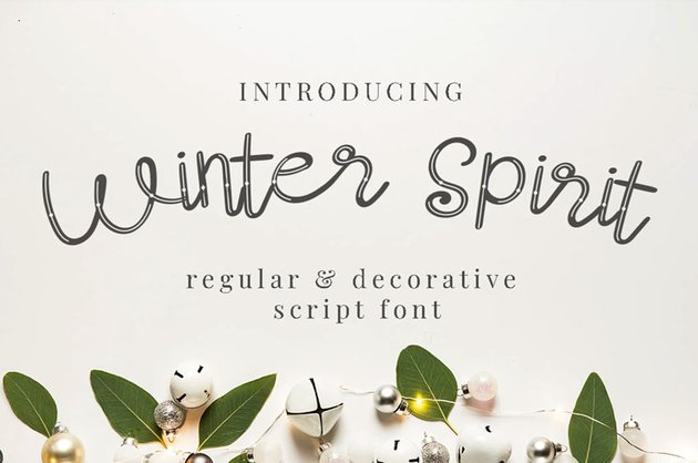 Winter Spirit Script Font
