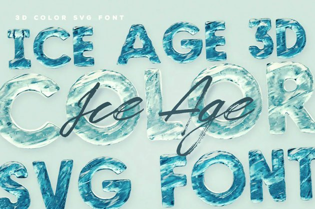 Ice Age Color Fonts