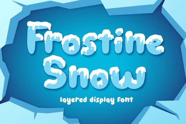 Frostline Snow Winter Lettering Font