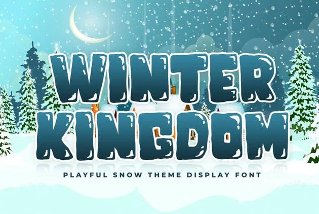 winter kingdom font