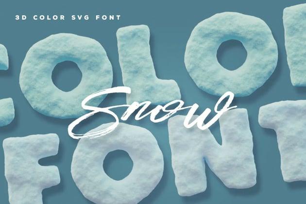 Snow Color Font