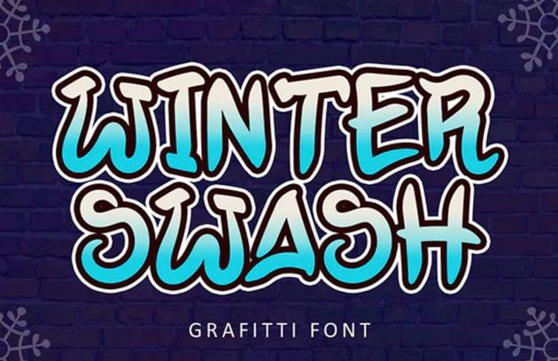 Winter Swash Graffiti Font