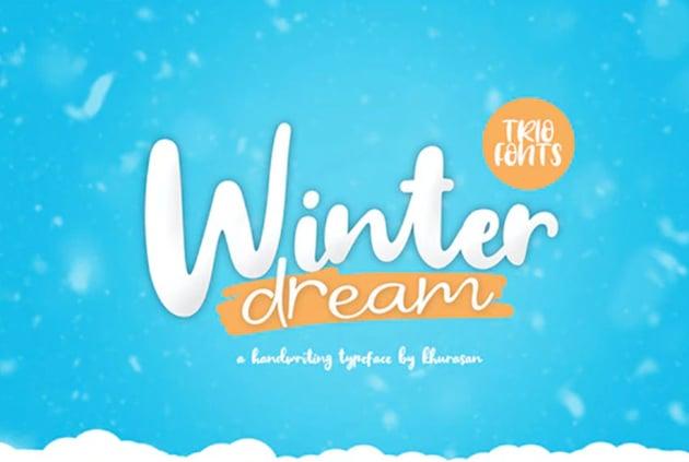 Winter Dream Font Trio