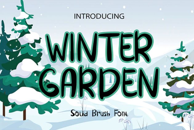 Winter Garden Brush Font