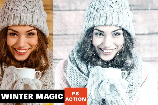 winter Photoshop effect