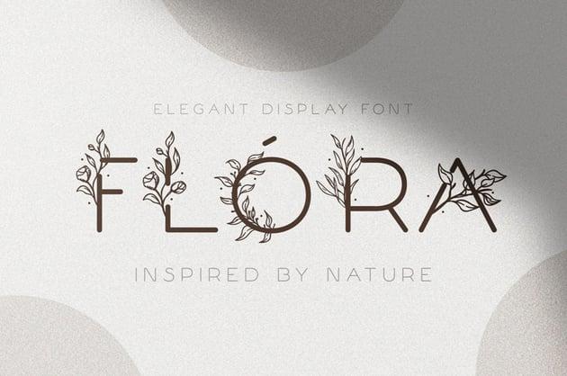 Flóra Delicate Floral Font