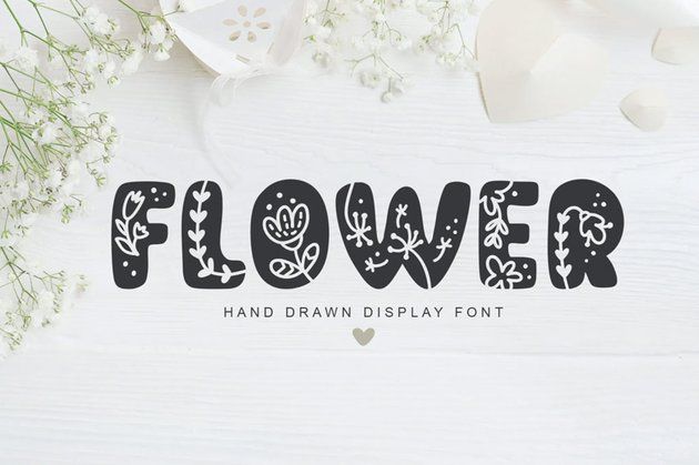 Flower Hand Drawn Display Font