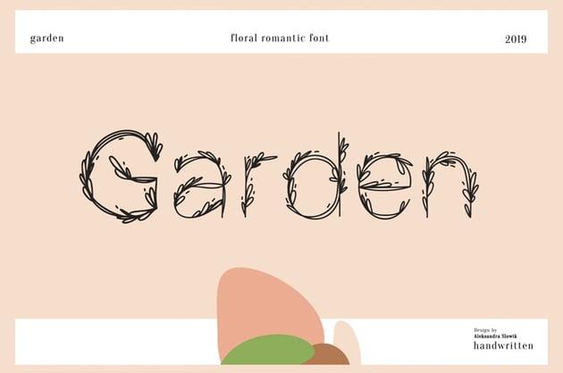 Garden Floral Romantic Font
