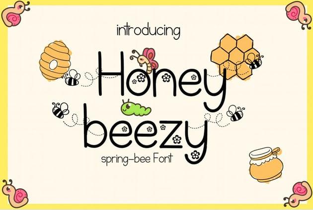 Honey Beezy Spring Bee Font