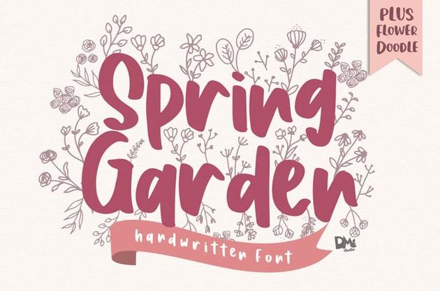 Spring Garden Beautiful Handwritten Font