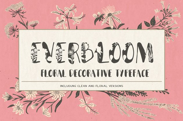 Everbloom Floral Typeface
