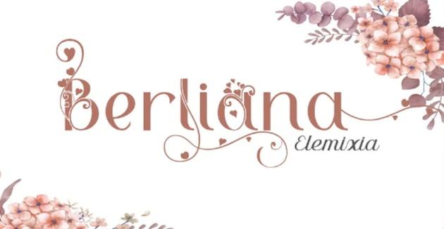 Berliana Elimixia Floral Calligraphy Font