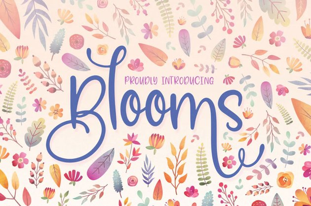 Blooms Font Family