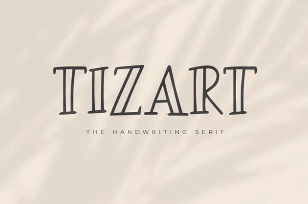 Tizard Handwriting Serif Font