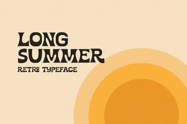 Long Summer Retro Font