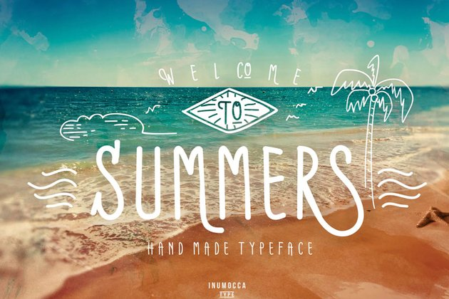 Summers Typeface with Extras