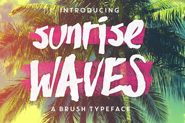 Sunrise Waves Font
