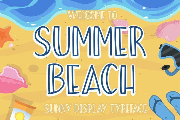 Summer Beach Sunny Display Typeface