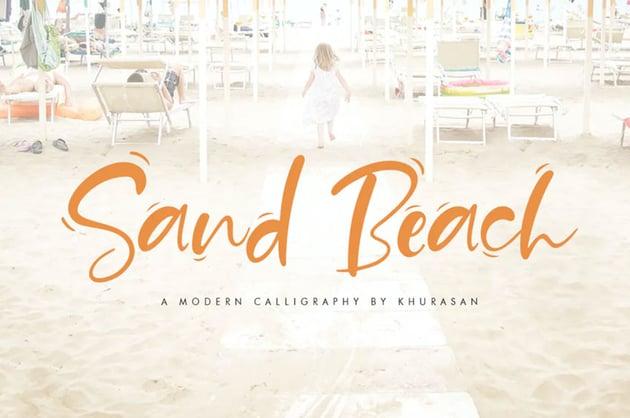 Sand Beach Summer Font
