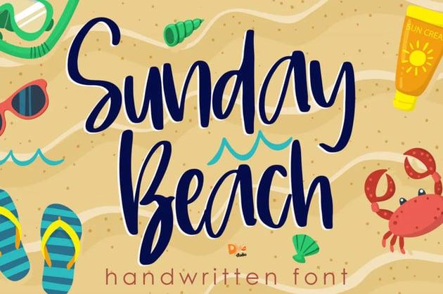 Sunday Beach Handwritten Font