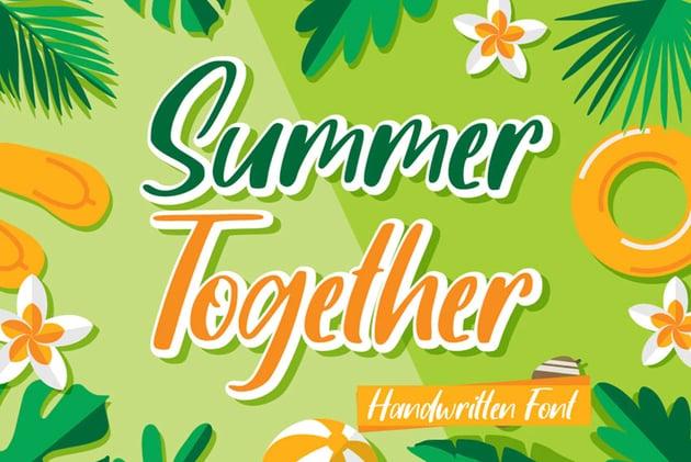 Summer Together Font