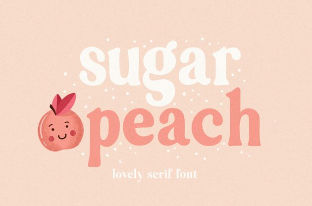Sugar Peach Serif Font