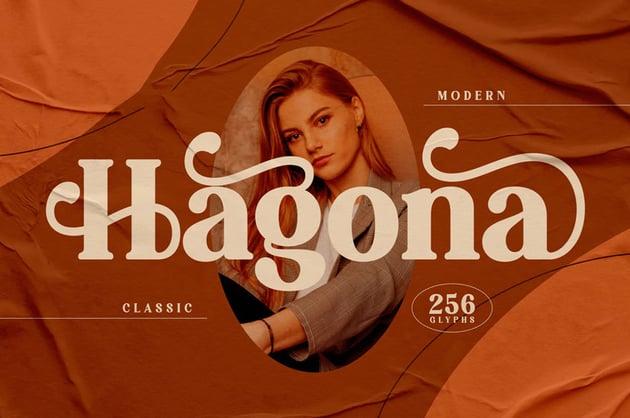 Hagona Classy Serif Font
