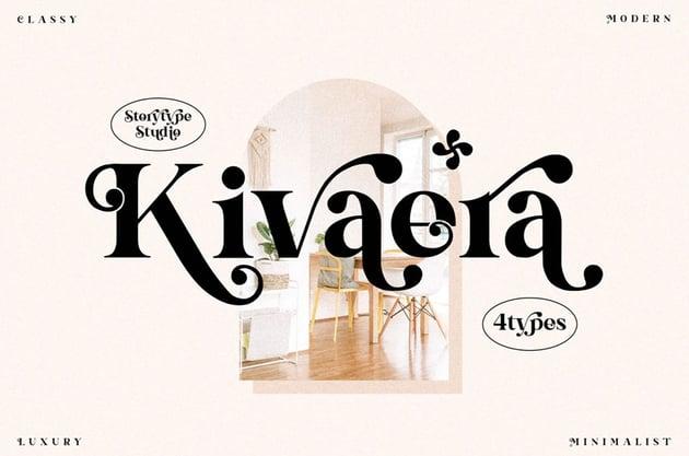 Kivaera Stylish Serif Font